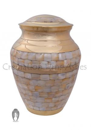 Mother of Pearl Elite Large Funeral Cremation Ashes urn