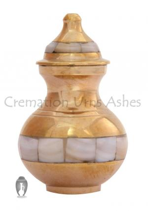 Mother of Pearl Mini Keepsake Cremation Urn Ashes