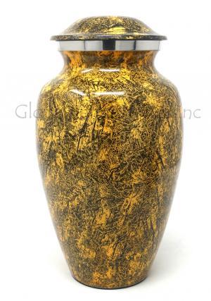 Natural Punga Colour Aluminium Large Cremation Urn for Ashes.