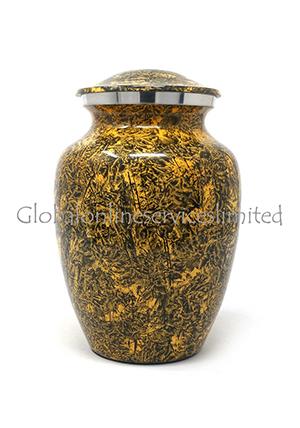 Natural Punga Colour Aluminium Medium Cremation Urn for Ashes.