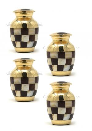 Pack Of Four Keepsake Cremation Urns Ashes for Human