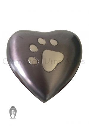 Pewter Grey Heart Small Keepsake Cremation Pet Urn for Ashes