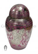 Pink Angel Keepsake Brass Memorial Urn for Human Ashes
