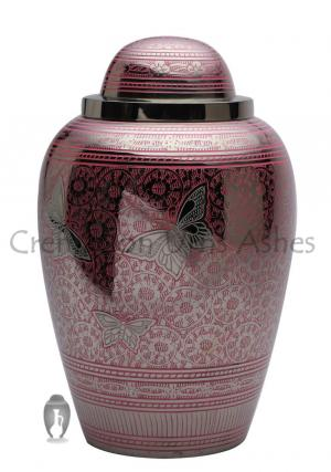 Portland Pink Butterflies Large Adult Funeral Urns for Human