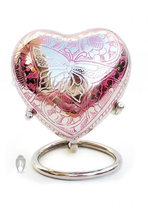 Portland Pink Mini Heart Urn for Funeral Keepsake Ashes of Adults