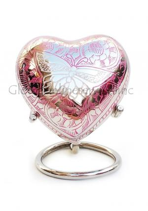 Portland Pink Mini Heart Urn for Funeral Keepsake Ashes of Adults (Pink)