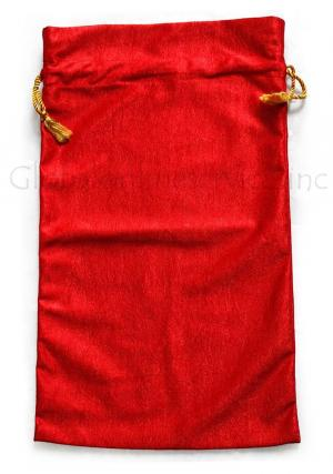 Red Pouches for Gift Storage, Carry Bags, Decorative Bags