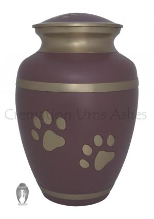 Rochford Paw Prints Pink Cremation Urn Ashes