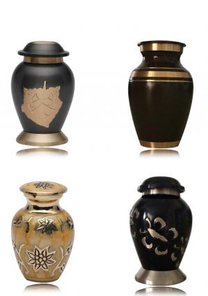 Set of 4 Mini Keepsake Urns for Ashes, Small Cremation Memorial Urns UK