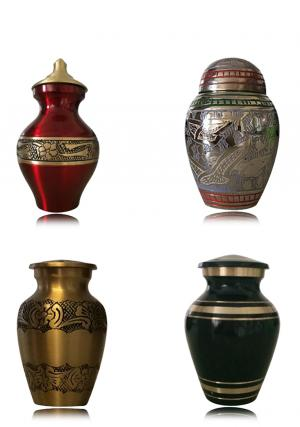 Set of 4 Small Keepsake Urns for Ashes, Cremation Memorial Urn UK
