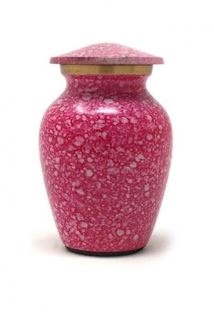 Shimmer Pink Mini Keepsake Cremation Urn for Ashes (Small)