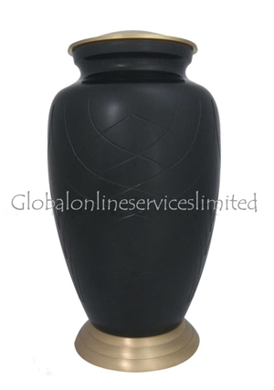 Simply Skipton Black Adult Urn For Human Ashes