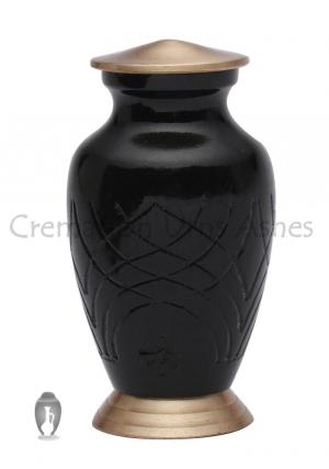 Skipton Black Mini Keepsake Funeral Urn for Human Cremations