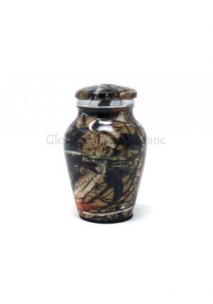 Small Aluminium Camouflage Cremation Urn