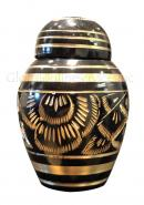 Small Black Polished Classic Brass Keepsake Urn