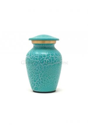 Small Brass Keepsake Urn for Cremation Ashes (Small)