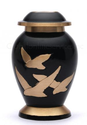 Small Going Home Black Keepsake Urn for Human Cremation Ashes