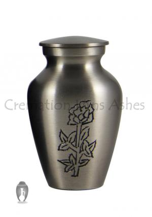 Small Keepsake Blossoming Rose Urn for Funeral Ashes of Human