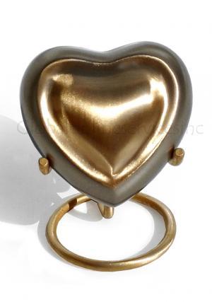 Small Pewter Enamelled Inner Heart Keepsake Urn