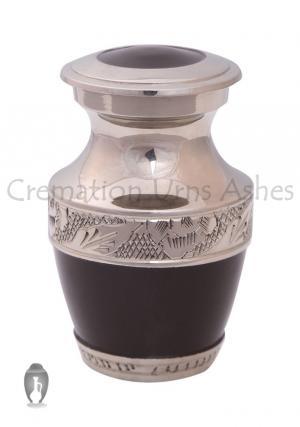 Small black keepsake ashes ceremonial urn, Memorial ashes urn