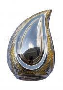 Wattan Nickel Engraved Teardrop Cremation Ashes Keepsake Brass Urn
