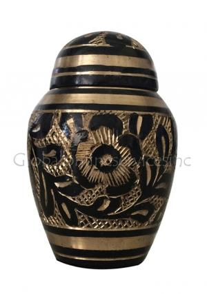 Westminster Black Dome Keepsake Cremation Urn for Human Ashes