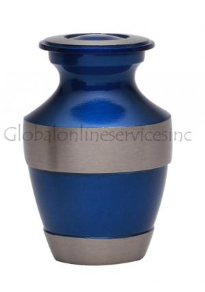 Whitby Grey & Teal Small Keepsake Funeral Urn For Cremated Ashes