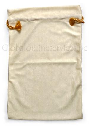 White Pouches for Gift Storage, Carry Bags, Decorative Bags