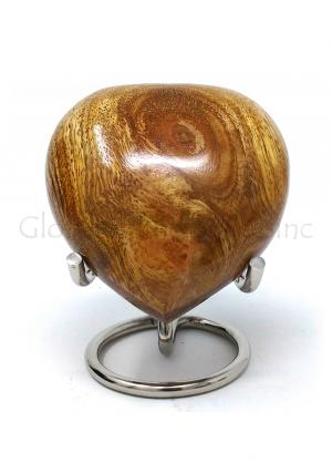 Wooden Heart Keepsake Urn for Funeral Human Ashes